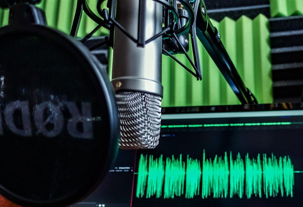 Mikrofon z którego korzysta Monika Leszczyńska nagrywając podcast
